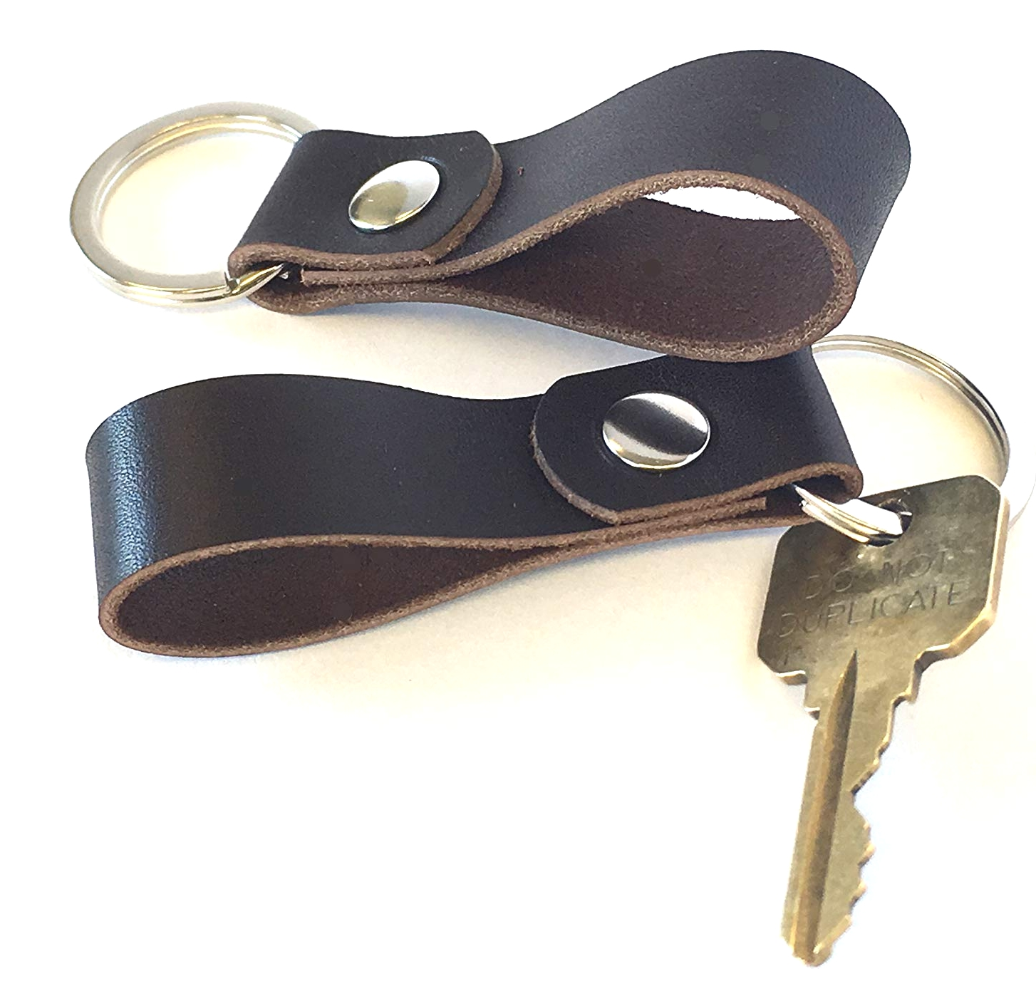 Usa Made Leather Keychain